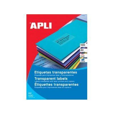 Etikett APLI 210x297 Ref.1225,transparent polüester 20lehte pakis, ilmastikukindel