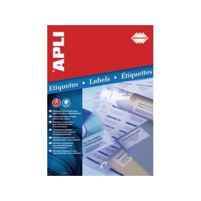 Etikett APLI 48,5x25,4 Ref.1223 transparent polüester 20lehte pakis, ilmastikukindel