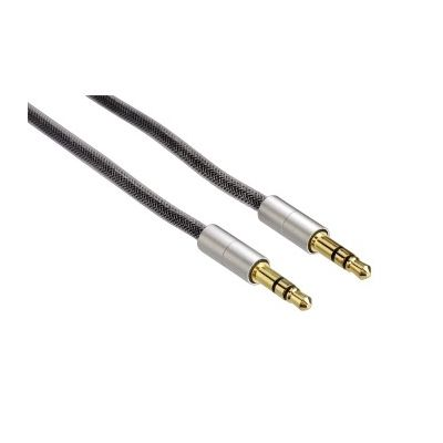 Audiokaabel Hama 3,5mm pulk / 3,5mm pulk 2m, Silver/hõbedane, HQ AluLine