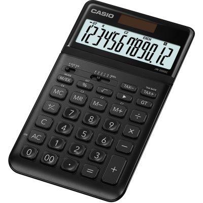 Lauakalkulaator Casio JW-200SC Black/must metall 12-kohaline kallutatav ekraan, tava- ja päikesepatarei, 184x109x11mm, Casio loogika, LR1130