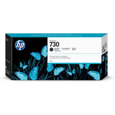 Tint HP 730 P2V71A Matte black/must 300ml  for DesignJet T1600, T1600dr, T1700, T1700dr, T2600, T2600dr