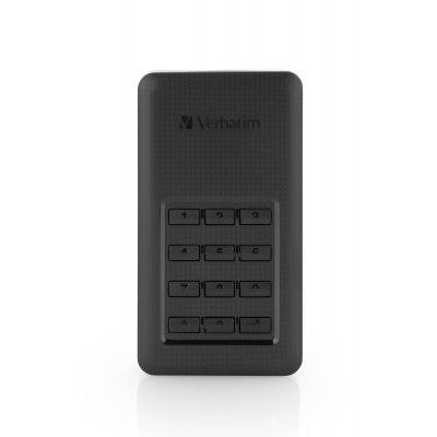 Kõvaketas väline SSD Verbatim Store 'n' Go Secure Portable HDD with Keypad Access 256GB USB3.1 Gen1 USB-C + adapter
