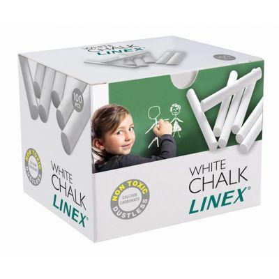 Kriit Linex valge ümar 100tk/krp