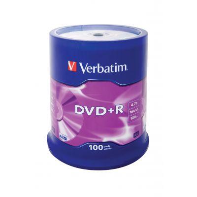 DVD+R Verbatim 4,7GB 120min 16x Cake 100, Matt Silver Surface, 100 toorikut tornis