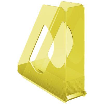 Dokumendikast 72x256x260mm läbipaistev kollane Esselte Color Ice