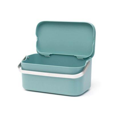 Toidujäätmete urn 1.8L, Brabantia kaanega/Mint, roheline