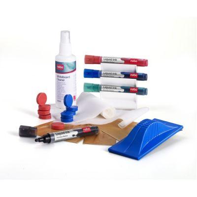 Valgetahvli tarvikukomplekt NOBO Whiteboard User Kit (4 markerit ja magnethoidja, magnetiga kustutaja, magnetid, puhastusvahend 125ml)
