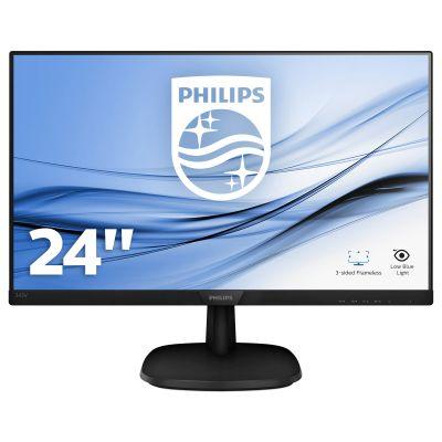 """Monitor Philips 243V7QJABF/00 23.8 """", IPS, FullHD 1920 x 1080, 16:9, 5 ms, 250 cd/m², Black"""