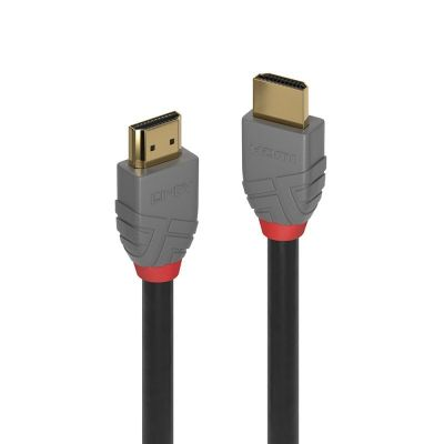 Kaabel HDMI-HDMI Lindy 3m Anthra Line UHD 4K 4096x2160@60Hz 3D (HDMI2.0 standard) 24K kullatud pistikud, kolmekordne varjestus