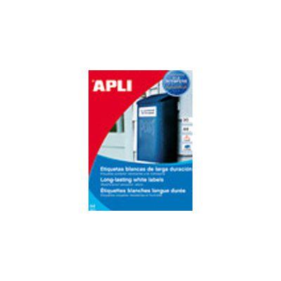 Etikett Apli 210x297 Ref.12121 valge ,100l/pk, ilmastikukindel,eritel