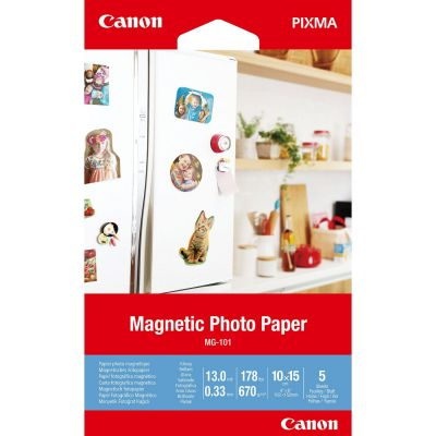 Paber Canon MG-101 10x15cm 5lehte Magnetic Photo Paper Glossy - magnetpaber 670gr/m2