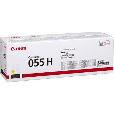 Tooner Canon 055HYellow/kollane suuremahuline 5900lk LBP663Cdw LBP664Cx/Cdw MF742Cdw MF744Cdw MF745Cdw MF746Cx