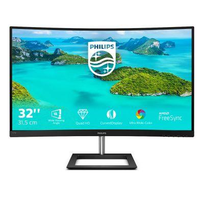 Monitor Philips E-line 325E1C curved 31.5' 2560x1440 QHD VA 250cd/m² 3000:1 4ms HDMI, VGA, DisplayPort