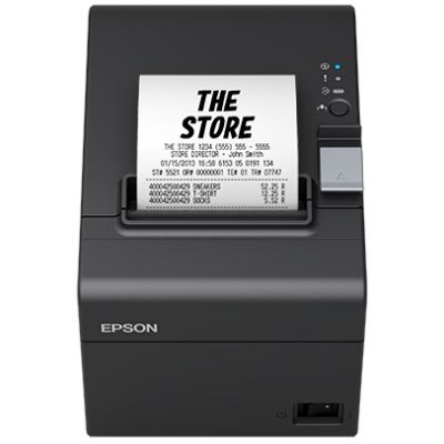 Tshekiprinter Epson TM-T20III USB2.0, RS232 serial, grey, toiteplokk, EU, 140x199x146mm , speed 250mm/sec, 80mm paberi laius. 2YW