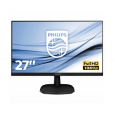 Monitor Philips 273V7QSB/00 27 `, FHD, 1920 x 1080 pixels, 16:9, LCD, IPS, 8 ms, 250 cd/m², Black