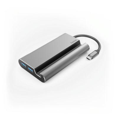 Port replikaator Hama 7in1 USB-C Docking Station 3xUSB-A3.1 HDMI (UHD 3840x2160) VGA LAN USB-C (PD - power delivery)