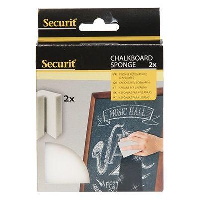 Tahvlipuhastuskäsn SECURIT Magic cleaning sponge, kriidi- ja klaastahvlile; 2,5x6x10,5cm/ 2tk kompl.