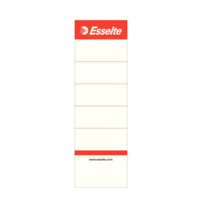 Etikett 50x158mm 75mm valge registraatorile Esselte