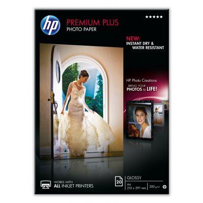 Paber HP CR672A Premium Plus Photo Paper Glossy A4, 20lehte, 300Gr/M2
