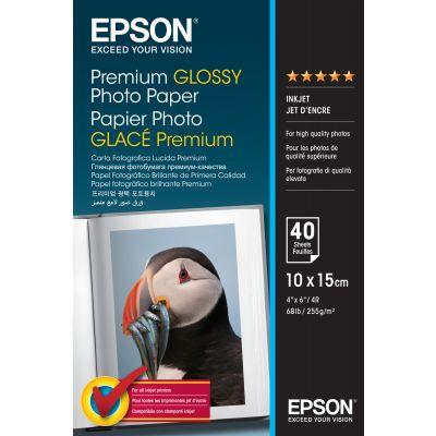 Paber Epson Premium Glossy Paper 10x15cm 40lehte 255gr/m2 S042153