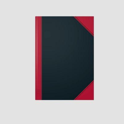 Kontoriraamat A4 5x5ruut, 96l  raamatköide, kõva kaas, China, Brunnen