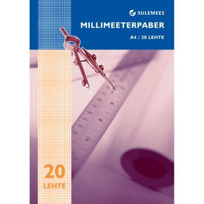 Millimeetripaberiplokk A4  20-25lehte