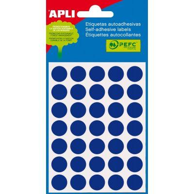 Etikett ümar 13mm sinine, Ref.2056 175tk/pk markeerimispunkt