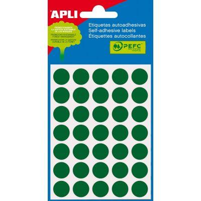 Etikett ümar 13mm roheline, Ref. 2058 175tk/pk markeerimispunkt