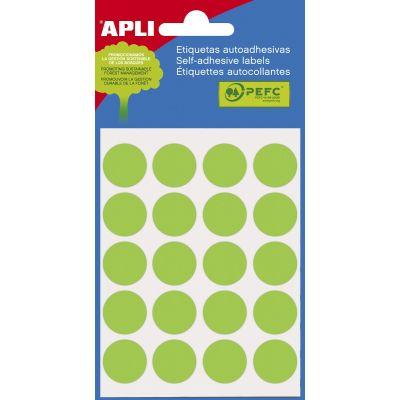 Etikett ümar 19mm roheline, Ref. 2066 100tk/pk  markeerimispunkt