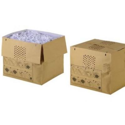 Prügikott paberipurustajale Rexel Auto+ 500X/500M/600X/600M , maht 80L, 50tk/pk (paberkoti suurus K39 x L45 x S40 cm)