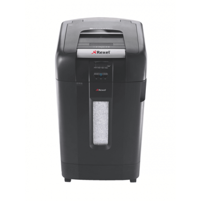 Paberipurustaja Rexel Auto+ 750M, 2x15mm P5, 12 lehte/750 lehte, Jam-free Technology, bin 115L, CD-shred