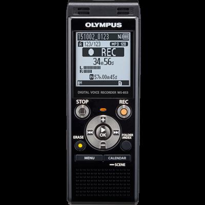 Digidiktofon Olympus WS-853 black 8GB 1,43`LCD microSDHC, MP3 2xAAA Ni-MH akud, 2YW, USB-laadimine, kott