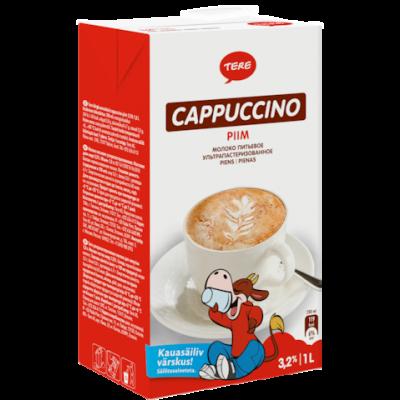 Piim Cappuccino 3,2% 1L, Tere