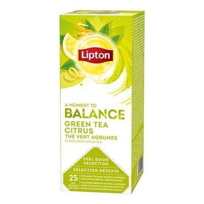Roheline tee Lipton tsitrusega (Green Tea Citrus) 1,3g*25 tk/pk (fooliumümbrik)