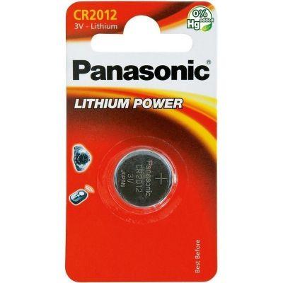 Patarei Panasonic CR2012/1B 3V 55mAh , (diam 20mm x 1,2mm) 1 patarei, pidevtarbimisele 0,1mA