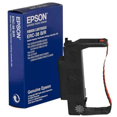 Lint Epson ERC30/34/38BR originaal Must/Punane (black/red) (TM-U300/375/210) (ERC38BR)