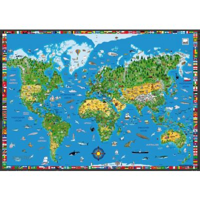 Kirjutamisalus Map of the world MOLL 998911, 60x42cm/ roeline-sinine
