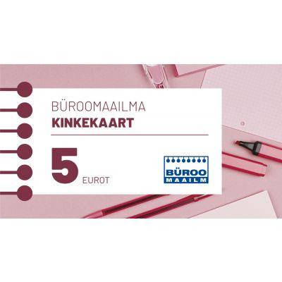 Kinkekaart Büroomaailm 5 EUR