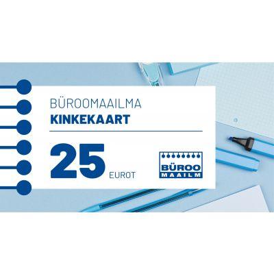 Kinkekaart Büroomaailm 25 EUR