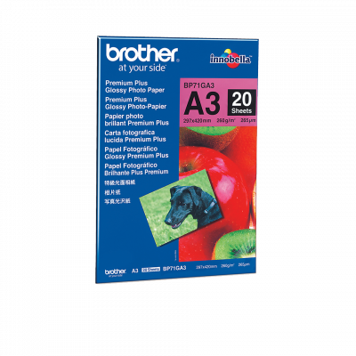 Paber Brother A3 Glossy Paper 260gr 20l
