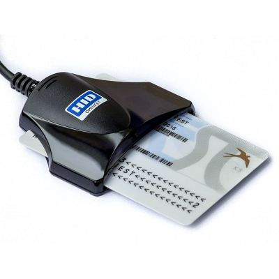 Kiipkaardilugeja Omnikey CardMan 1021 USB Smart Card Reader - must kaabliga ID-kaardi lugeja