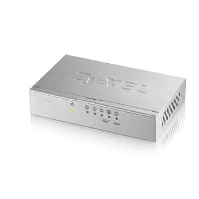 Switch Zyxel GS-105 5-port 10/100/1000Mbps Gigabit, 2x QoS ports, desktop, metallkorpus
