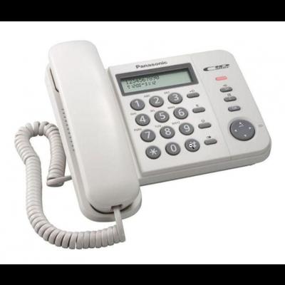 Telefon Panasonic KX-TS560-FXW valge, LCD, numbrinäit