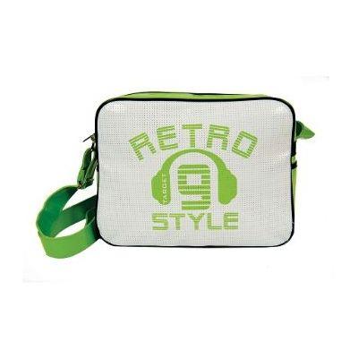 Õlakott Target Retro, valge/roheline