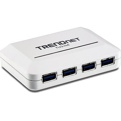 USB-HUB Trendnet TU3-H4E 4 x SuperSpeed USB3.0 Desktop hub, adapter kaasas (5VDC 3A)