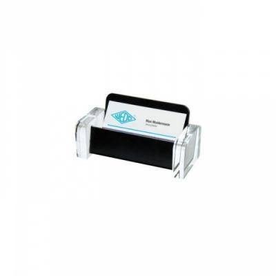 Visiitkaardihoidja Wedo Exclusiv , 115x50x55mm,acryllic, läbip/must,