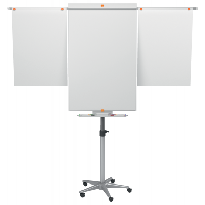 Loengutahvel ratastel NOBO Nano Clean Mobile Easel incl. Extended Arms, rattad, marker
