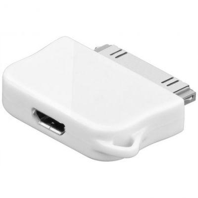 Adapter microUSB pesa -> Apple iPhone'le kuni 4S DAT adapter 30-pin Apple dock plug