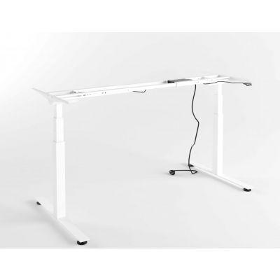 Elektriliselt reguleeritava laua jalg H-620...1240mm, 2 jalga; FSL650 ERGO Flex/ hõbehall, kompl.