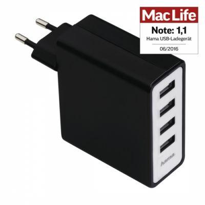 K0063169_1_USB_kuni_laadija_seinapesasse_Hama_Hama_Auto_kuni_Detect_4_kuni_Port_USB_Charging_Adapter_for_Tablet